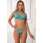 Embroidered Lace Top and Pantie