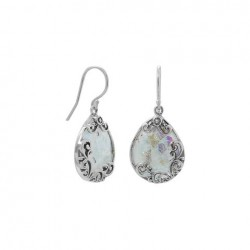 Ancient Roman Glass French Wire Earrings