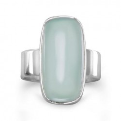 Oval Green Chalcedony Ring