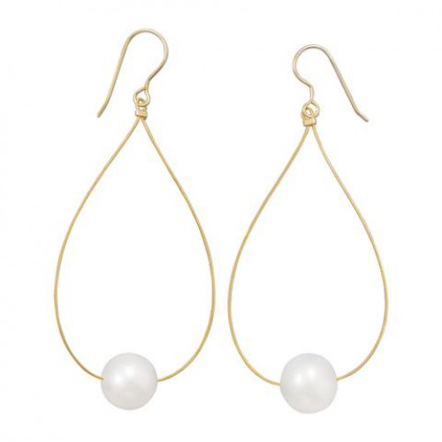 Single Freshwater Cultured Pearl Earrings